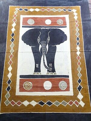 Rare Textile Collection - Ex large African Batik of an Elephant Africa
