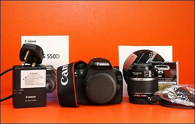 Canon EOS 550D DSLR Camera + 18-55mm Zoom Lens Kit + Battery & Charger
