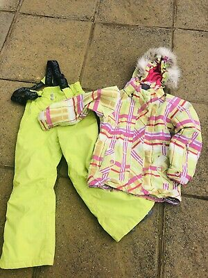 Girls Surfanic Snow Ski Suit, Ski Jacket. & Ski Trousers, Age 7-8, Used Conditio