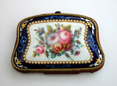 SUPER Antique French enamelled & Hand painted Coin Purse