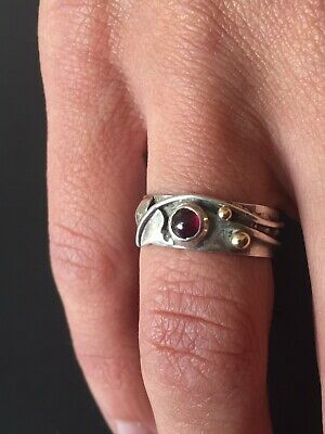 Antique art nouveau Arts & Crafts Hallmarked Sterling silver ring London C1900