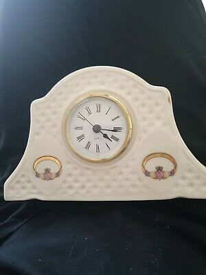 Irish Parian Claddagh Grandfather Clock by Donegal China porcelain mAAV