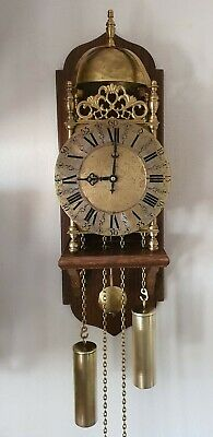 Lantern Clock John Smith Vintage Wall Chain Driven 8 Day Chair Mount Pendulum