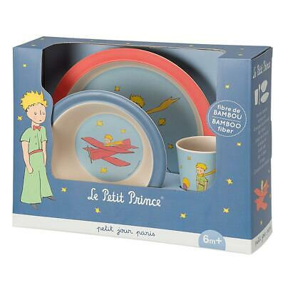 The Little Prince 4 piece Toddler Feeding set Bamboo Fiber Petit Jour Paris NEW
