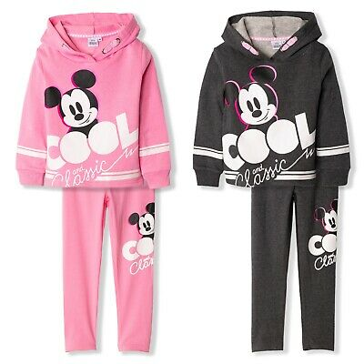 Disney Mickey Mouse Girls Outfit Clothes Set Hoodie Sweatshirt leggings 2-8yrs