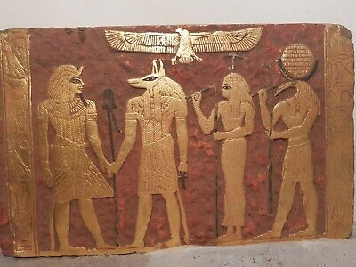 Rare Antique Ancient Egyptian Stela God anubis Isis Toth Health 1525–1504BC