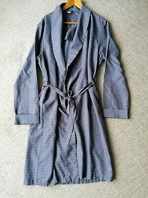 XL 1950s Grey Paisley Tootal Smoking Jacket - Ditsy Vintage Dressing Gown Robe