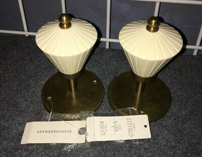 Anthropologie clustered fan brass/resin tie backs for curtains set of 2 NWT