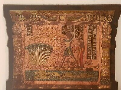 Rare Antique Ancient Egyptian Stela King Tutankhamun Boat Hunt Duck1850-1780BC