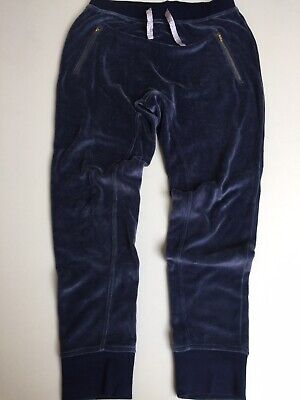 Girls J Crew Velour Sweatpants Joggers Blue Age 14 Great Condition