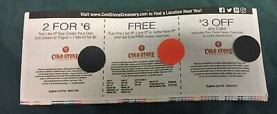 Cold Stone Creamery Coupons Exp 12/7/19