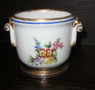 Antique 19th Century French SEVRES Style Porcelain Small Seau