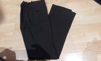 Marks and Spencer Girls Black School Trousers Slim Size 8-9 Years VGC