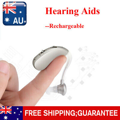 Rechargeable Hearing Aids Digital Small BTE Ear Aid Sound Amplifier Adjustable