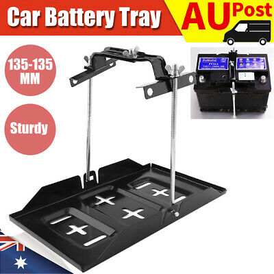 34.2x20cm Universal Car Battery Tray Clamp Bracket Metal Holder Large Adjustable