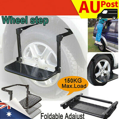 Wheel Step Foldable Lift Stair Truck Car Tyre Ladder 4WD 4X4 Adjustable f