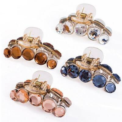 Fashion Ladies Women Large Hair Clip Claw Barrette Crab Clamp Plastic Crystal UK