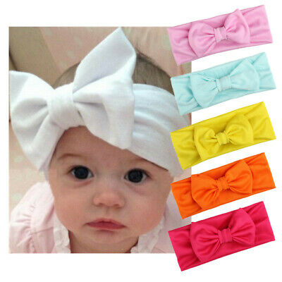 Kids Girls Baby Toddler Infant Headband Soft Hair Band Bow Knot Headwrap Turban