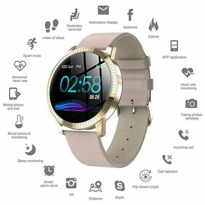 Smart Watch Fitness Tracker Blood Pressure Heart Rate Tempered Mirror IP67
