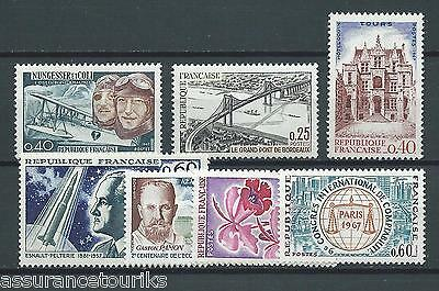 FRANCE - 1967 YT 1523 à 1529 - TIMBRES NEUFS** MNH LUXE