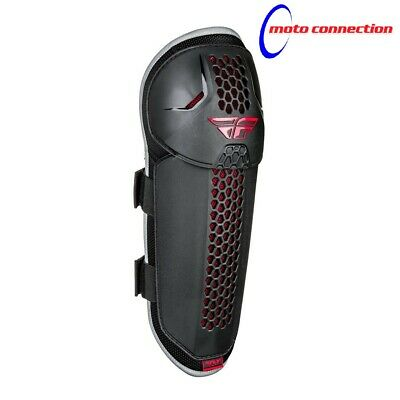 Fly Racing Barricade Vented Mx Knee Guards Protection  Youth Black