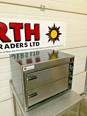 Prismafood ~ Pizza Oven ~ Stone Base Double Twin Deck Commercial Baked ~ £500+V
