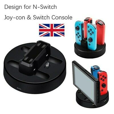 UK - Nintendo Switch Joy Con JoyCon Pro Controller Charge Charging Charger Stand