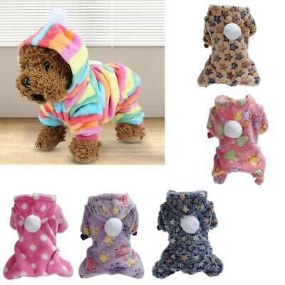 Flannel Dog Jumpsuit Winter Dog Clothes Hoodie Small Puppy Coat Pets Outfits Hot