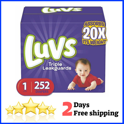 Luvs Ultra Leakguards Disposable Baby Diapers Diapers Size 1-5