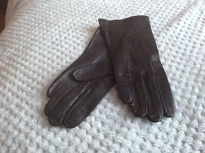 Ladies 100% Leather Gloves Black Size 7
