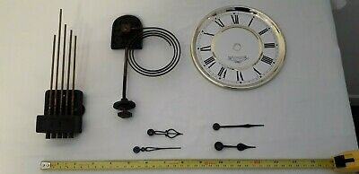 Clock Parts, 2 Pairs Clock Hands, 1 Dial, 1 Gong, 1 Chiming Bars Westminster