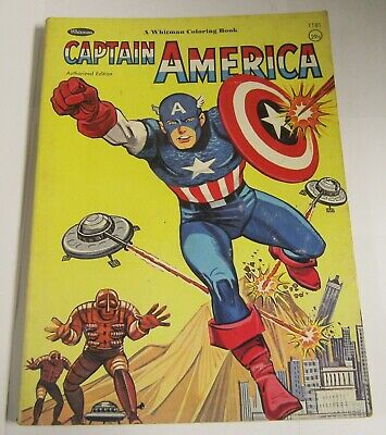 Vintage 1966 Captain America Coloring Book Whitman Used