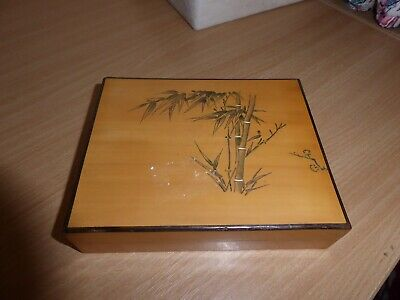 Bamboo wooden collectors box Chinese