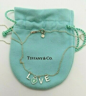 Tiffany & Co. Sterling Silver LOVE Letters Pendant Necklace - 18""
