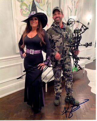 DONALD TRUMP JR. and KIMBERLY GUILFOYLE signed HALLOWEEN WITCH HUNT photo RARE