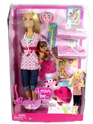 **Nib Barbie Doll 2008 I Can Be A Baby Doctor Playset