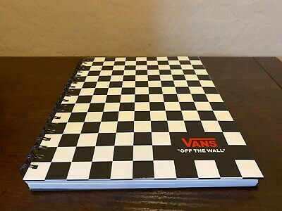 """Vans off The Wall Family Exclusive Black & White Checkerboard 8.5""""X11"""" Notebook"""
