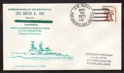Usa 1977 Cover, Destroyer Uss David R. Ray !!