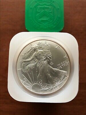 1999 Roll of 20 1oz Silver American Eagle Coins in Mint Tube