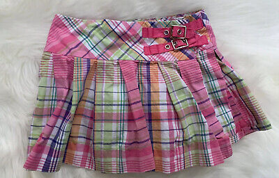 Ralph Lauren Kids Girls size 5 Plaid Patch Multi Colored Pleated Flare Skirt