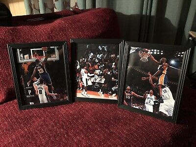 "Lebron James Kobe Bryant Los Angeles Lakers 8x10 ""3 Lot"" Framed Pictures NEW"