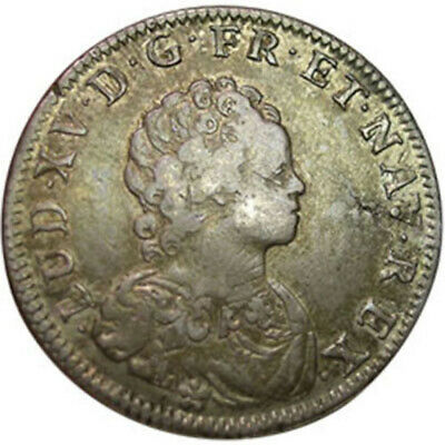 1716 France - Louis XV - 1/4 Ecu about Very Fine
