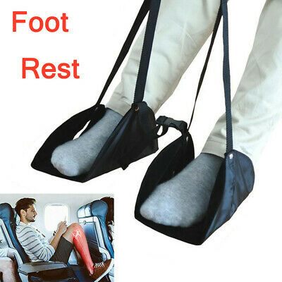 Comfy Hanger Travel Airplane Footrest Hammock Made Premium Memory Foam Foot NEW