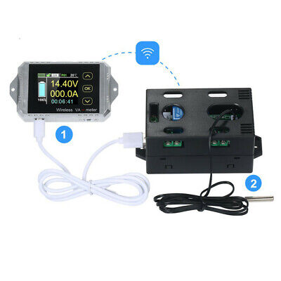 Wireless DC Coulomb Counter Voltmeter Volt Current Battery Monitor Capacity