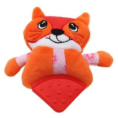 Infant Baby Soft Plush Toy Rattle Hand Bell Teether Animal Model YI
