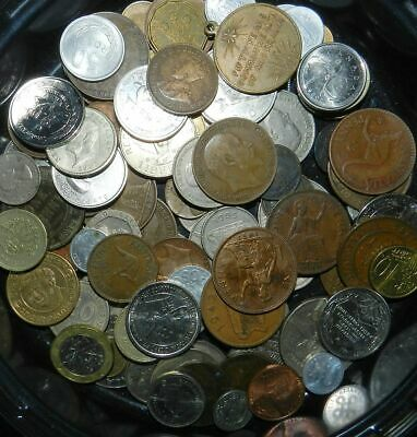100 (plus)  MIXED WORLD COINS - Includes Old Ones