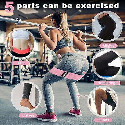 Fabric Resistance Bands - Heavy Duty Booty Bands | Glute Hip Circle | Non Slip