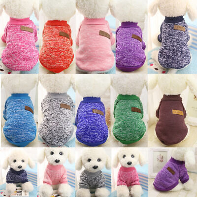 Pet Dog Warm Jacket Sweater Small Winter Knitted Jumper Coat Cat Clothes Apparel