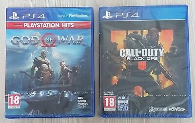 God of War/ Call Of Duty Black Ops PS4 Games ( New & Sealed)