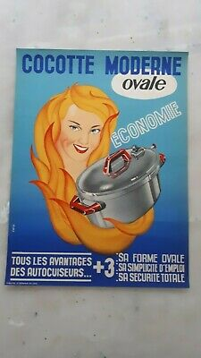 affiche ancienne cocotte moderne ovale
